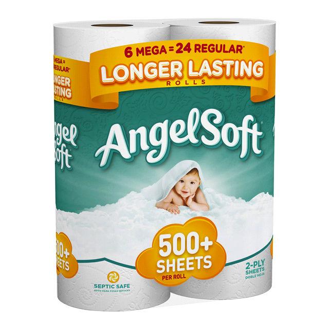 Papel Angel Soft de 6 Mega Rollos