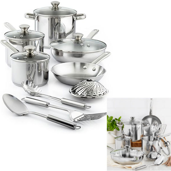 Tools of the Trade Stainless Steel 13-Pc Cookware Set