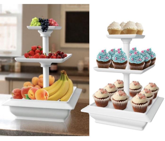 Chef Buddy 3 Tier Cupcake Dessert Stand a solo $8.64 en Walmart Online