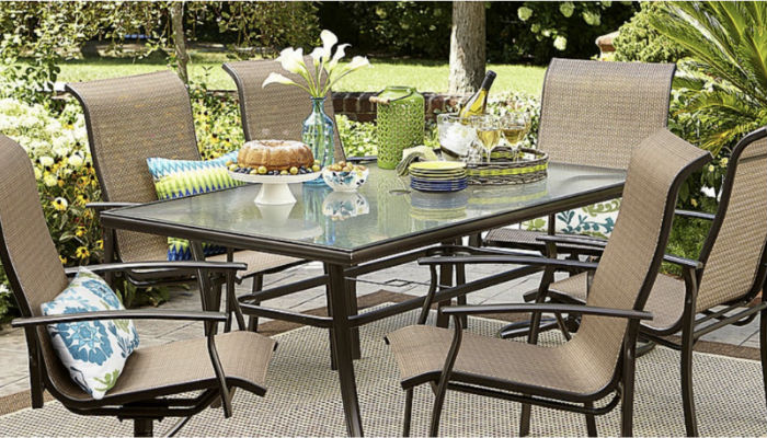 Garden oasis harrison 7 pc dining set a solo en sears cuponeandote Garden oasis harrison 7 piece dining set
