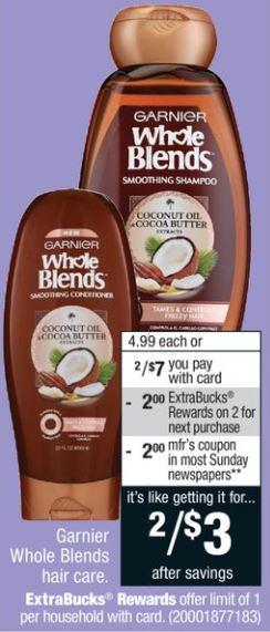 Garnier Whole Blends Hair Care - CVS 4-29-18