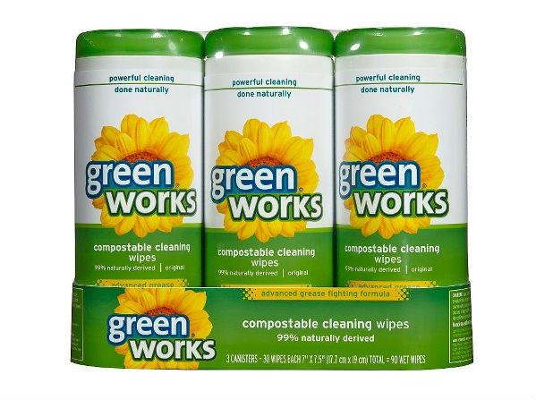 Green Works Wipes 3-Pk