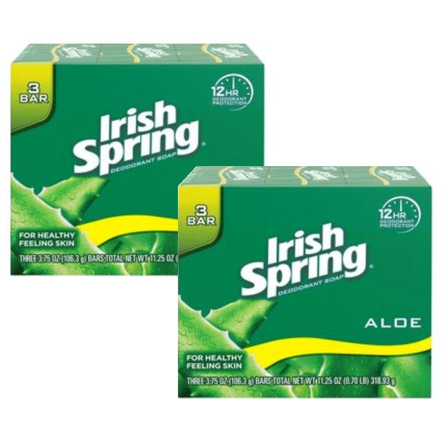 Jabón de barra Irish Spring de 3 ct
