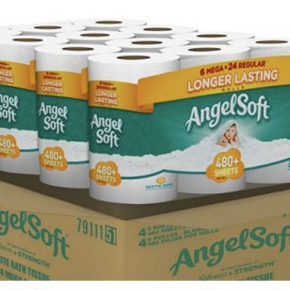 Papel Angel Soft de 24 Mega Rolls