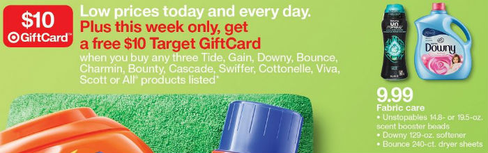 Downy y Bounce - Target Ad 5-27-18