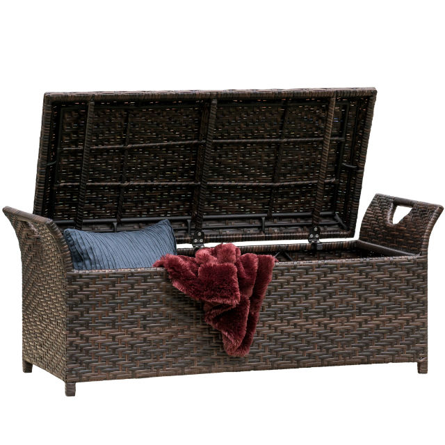 Noble House Outdoor Storage Bench
