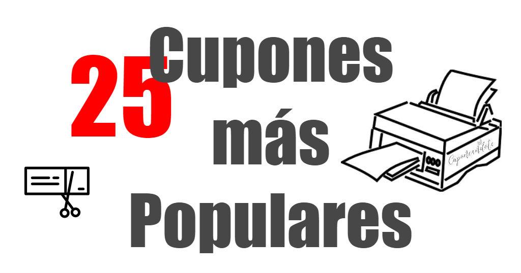 25 Cupones más Populares