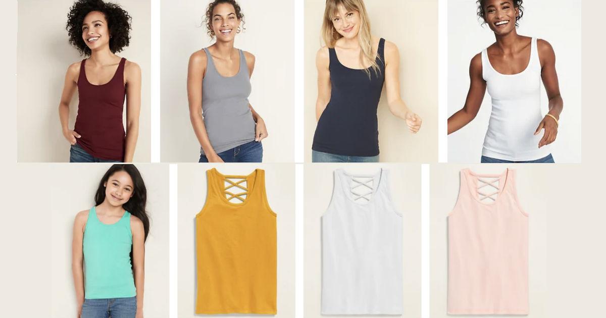Camisillas para Mujeres y Niñas SOLO $2 en Old Navy – Para los que tienen la Tarjeta (Reg $10)