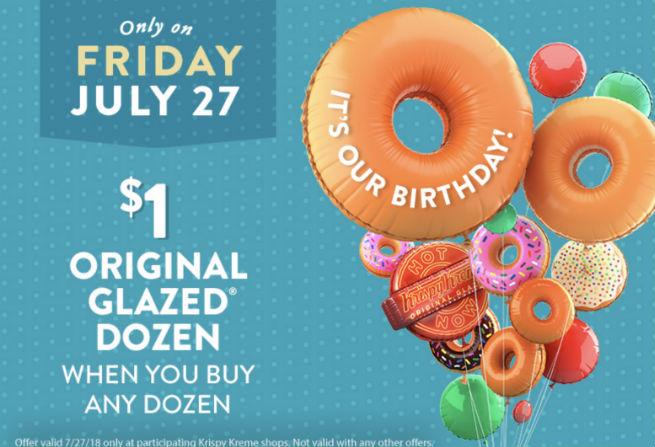 Oferta de Krispy Kreme 7-27-18