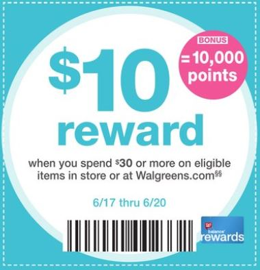 Puntos Rewards en Walgreens - 6-17-18