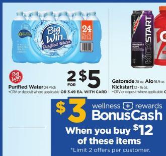 Big Win Purified Water - Rite Aid Ad 7-8-18