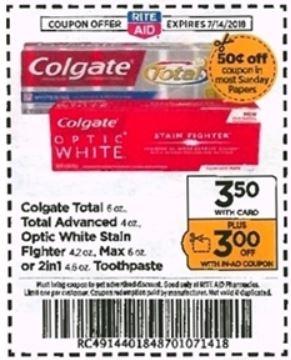 Colgate - Rite Aid Ad 7-8-18