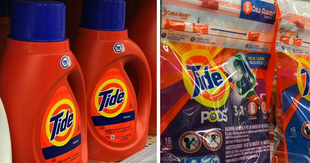 Detergentes liquido Tide o PODS