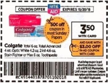 Colgate - Rite Aid Ad 10-14-18