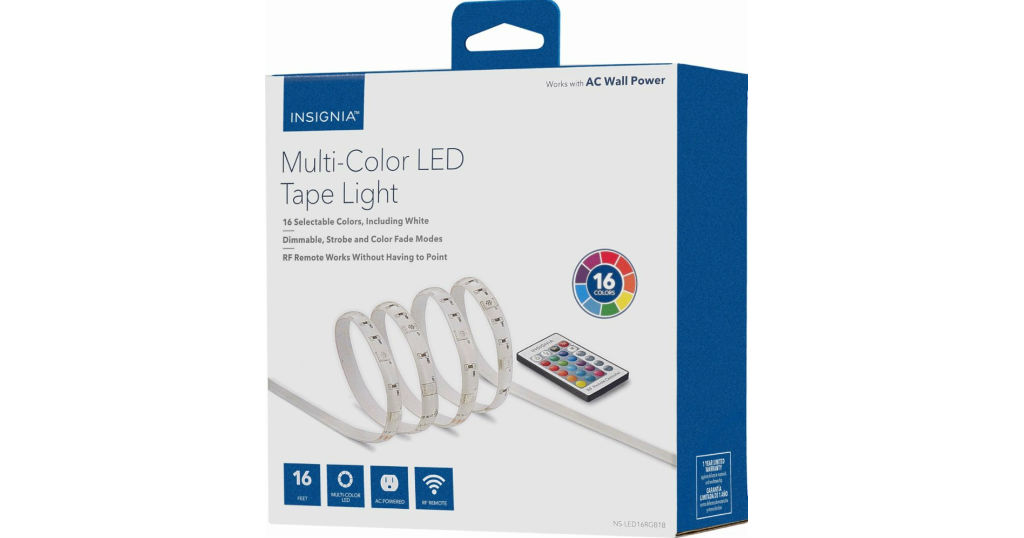 Luces LED Multicolor Insignia 16 pies