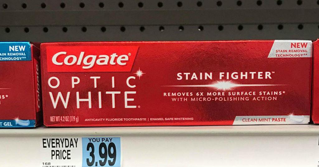 Pasta Colgate Optic White GRATIS en Rite Aid