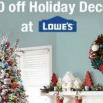 $10 GRATIS en Decoración de Navidad en Lowe's
