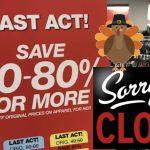 Lista de Tiendas que estarán cerradas en Thanksgiving 2018