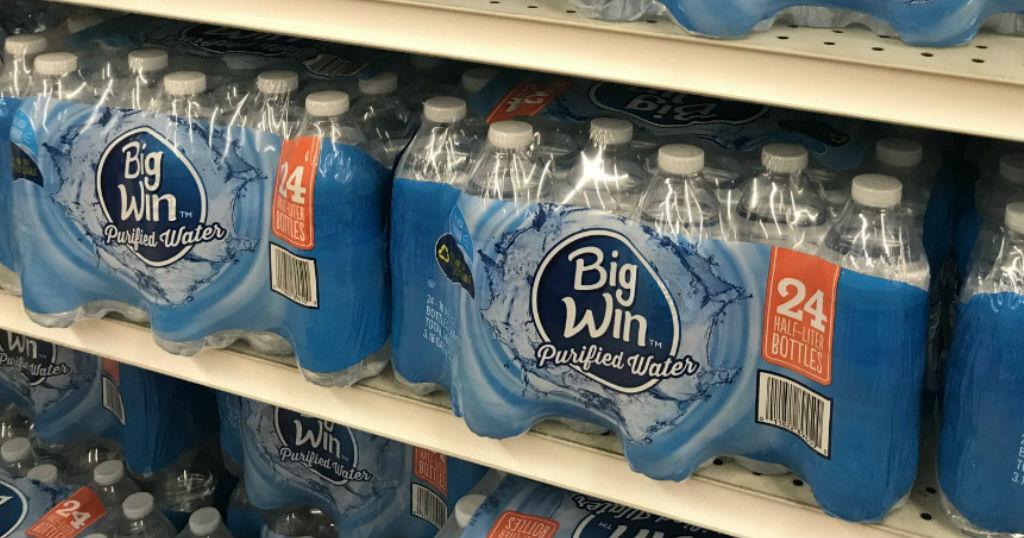 Caja de Agua Big Win de 24 ct a solo $1.75 en Rite Aid