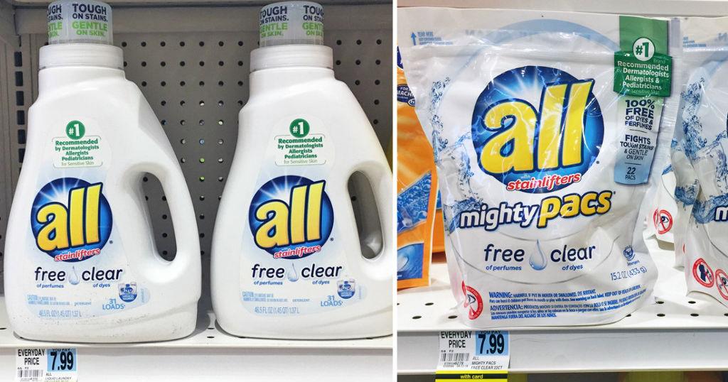 Detergentes All a solo $1.00 en Rite Aid