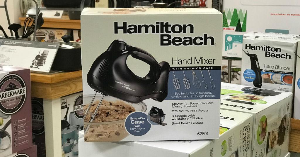 Hamilton Beach 6-Speed Hand Mixer SOLO $6.69 en Kohl's (Reg $25)