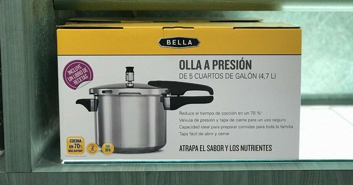 Olla a Presión Bella 5-QT SOLO $7.99 en Macy's (Reg $60)
