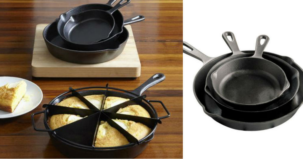 Set de Sartenes Cast Iron 3-pc