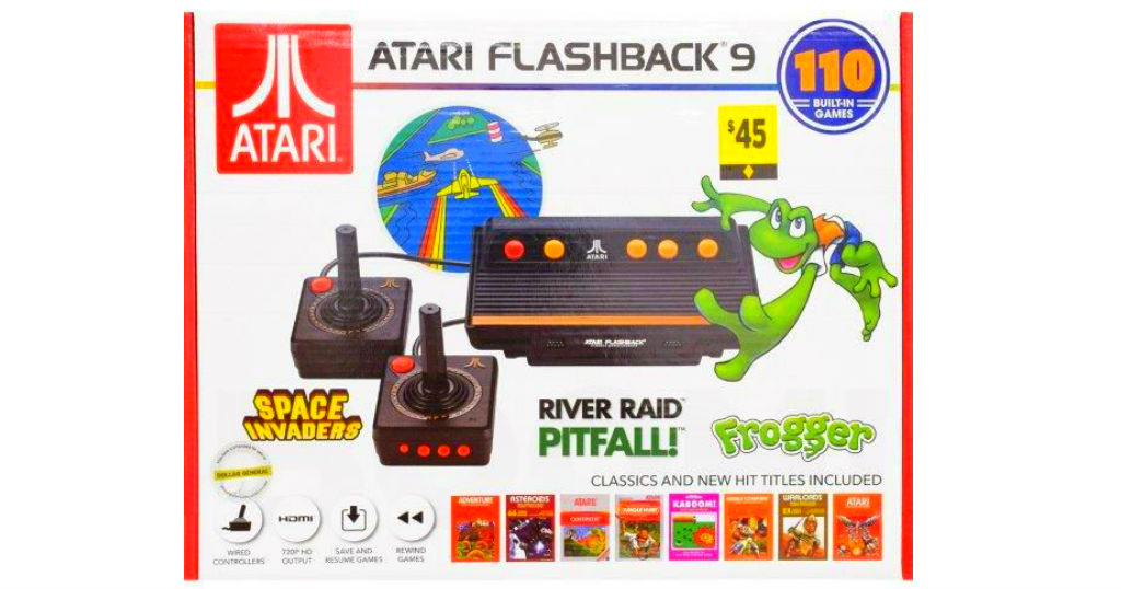 Atari Flashback 9 Game Console a solo $31.50 (Reg. $45) en Dollar General