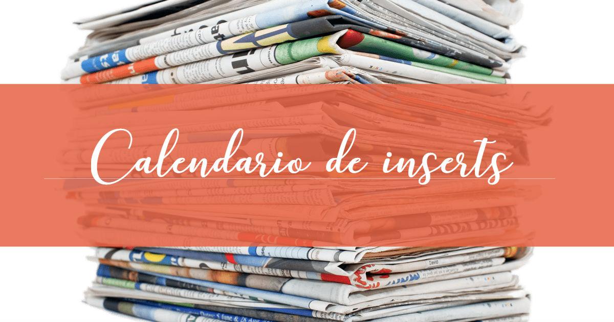 Calendario de Inserts - Cuponeandote
