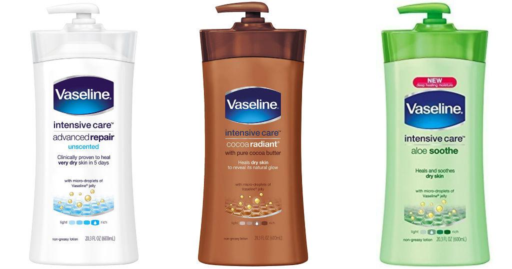 Vaseline Intensive Care Lotion a solo $2.99 en Rite Aid