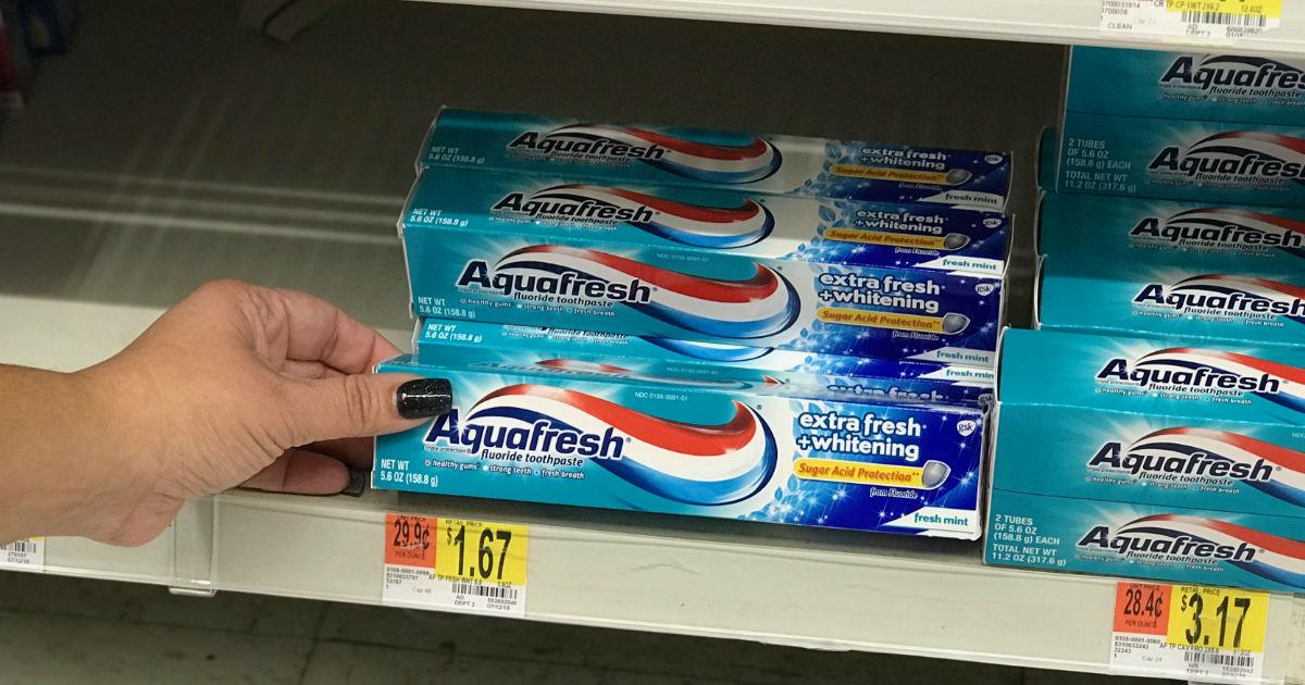 Pasta dental Aquafresh a solo $0.67 en Walmart