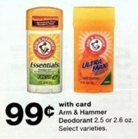 Desodorantes Arm & Hammer - Walgreens Ad 2-10-19