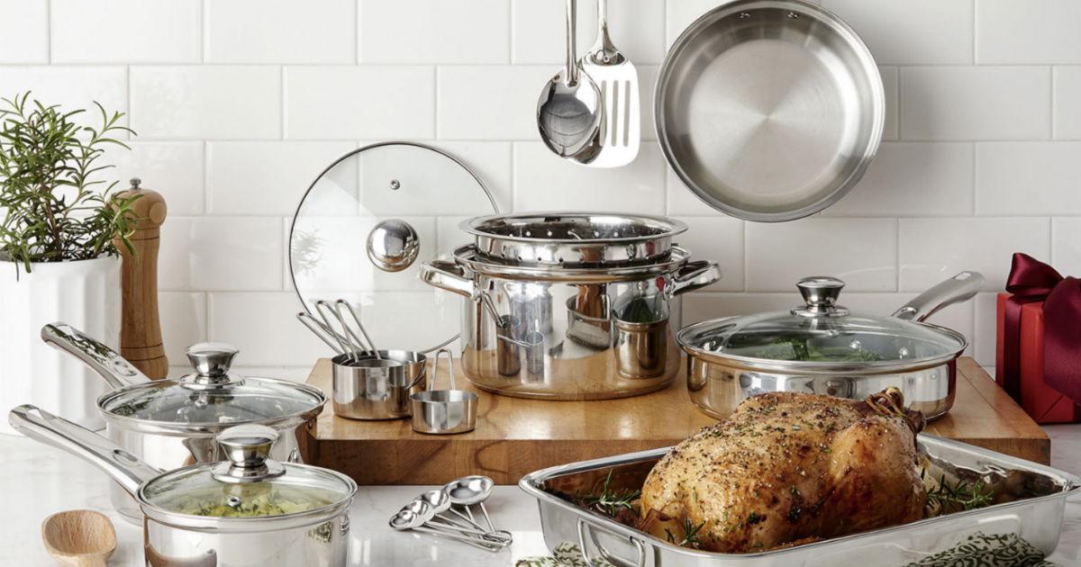 Set de Cocina Cooks 21-Piezas Stainless Steel SOLO $29.99 en JCPenney (Reg $100)