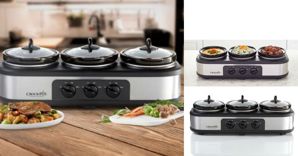 Crock Pot Trio Cook and Serve Slow Cooker and Food Warmer a solo $22.44 (Reg. $39.99) en Walmart