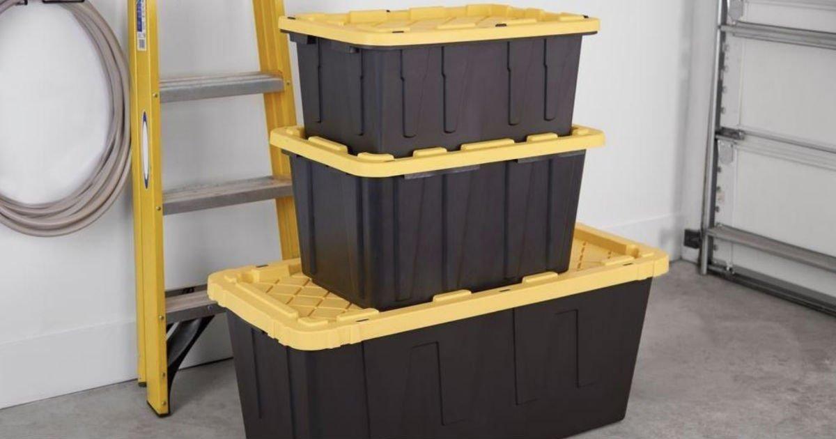 Cajas Plásticas de Almacenamiento HDX 27-Galones