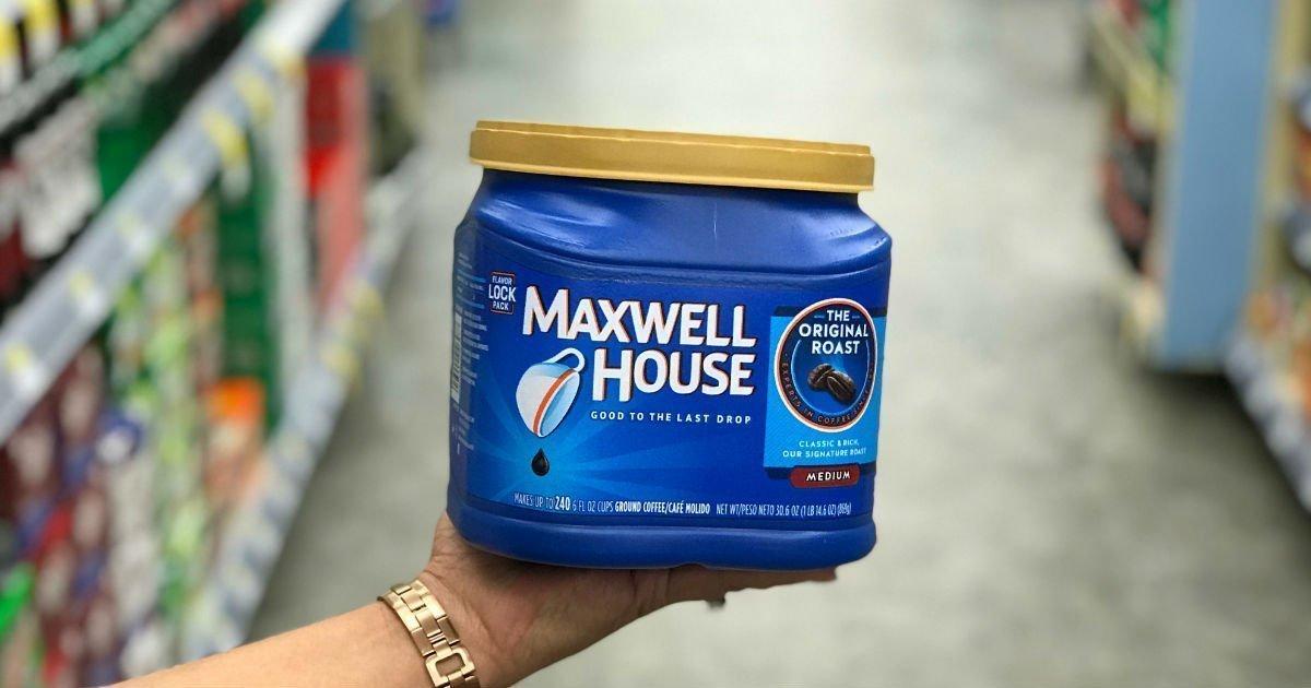 Café Maxwell House a solo $4.99 en Walgreens