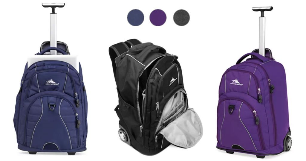 Bulto High Sierra Freewheel Rolling Backpack a solo $63.74 (Reg. $150)-Envío Incluído