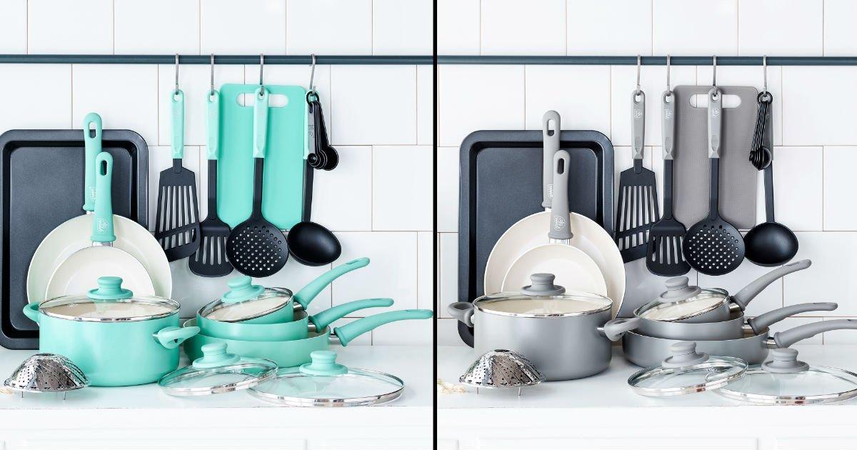 Set de cocina GreenLife de 18 piezas