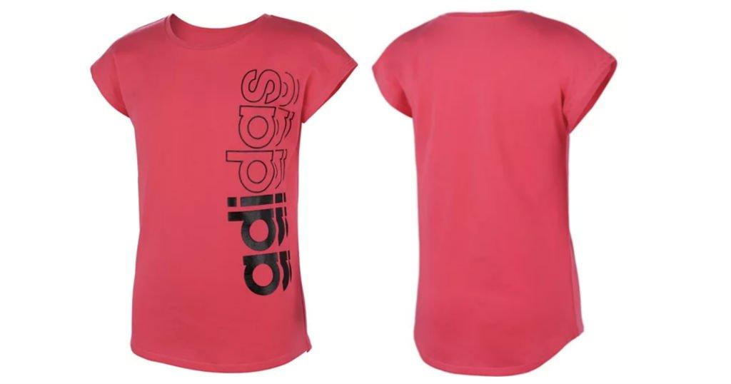 Adidas Big Girls Logo Print T-Shirt a $14.99 (Reg. $25) en Macys
