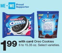 Oreo - Walgreens ad 8-18-19