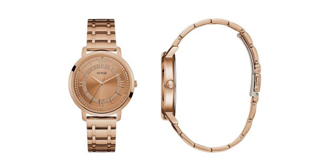 Reloj GUESS Rose Gold Tone Slim Classic a solo $59.49 (Reg. $125)