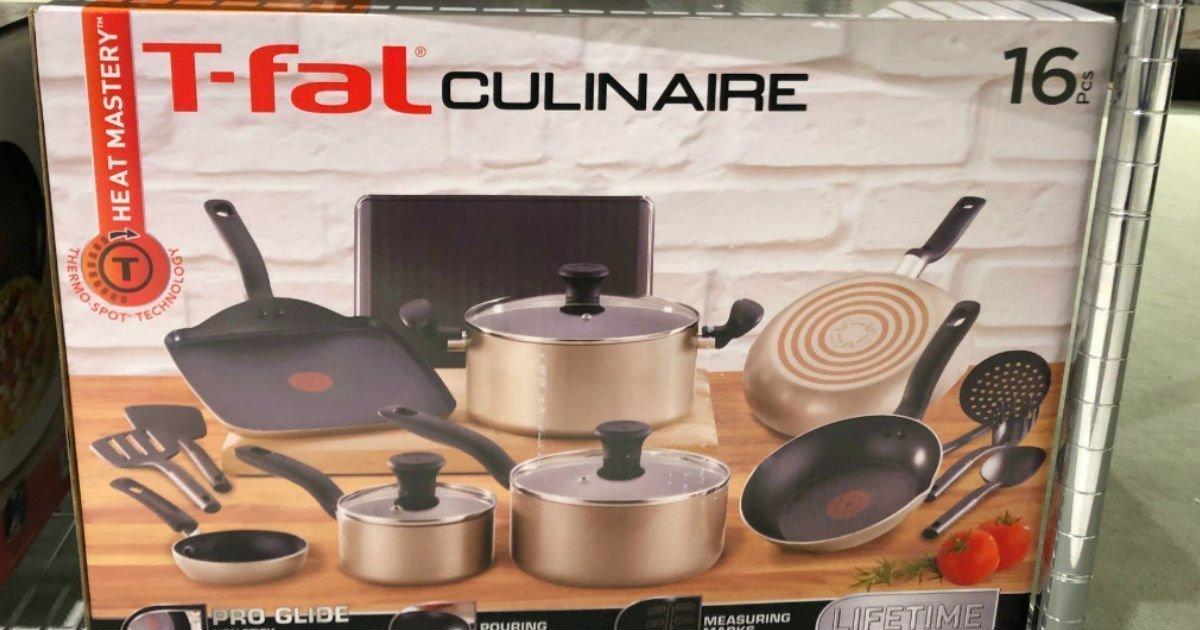 Set de Cocina T-fal Culinaire de 16-Piezas SOLO $69.99 en Macy's (Reg $250)