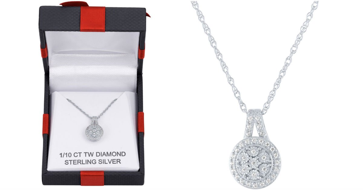 Collar con Colgante de Diamantes Genuinos en JCPenney