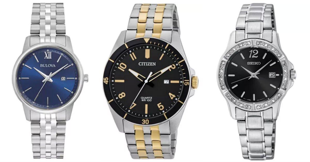 Venta de Relojes Finos Citizen, Bulova y Seiko a $99 en Macy's