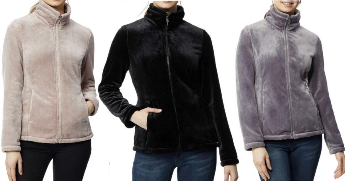 Athleisure Luxe Plush Jacket SOLO $9.96 en Walmart (Reg $28)