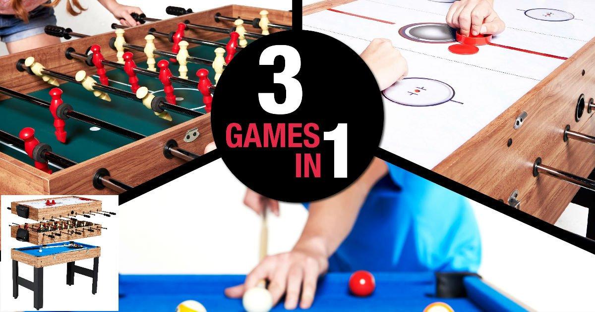 Mesa de juego MD Sports 3-in-1 a solo $69.95 en Walmart (Reg. $130)
