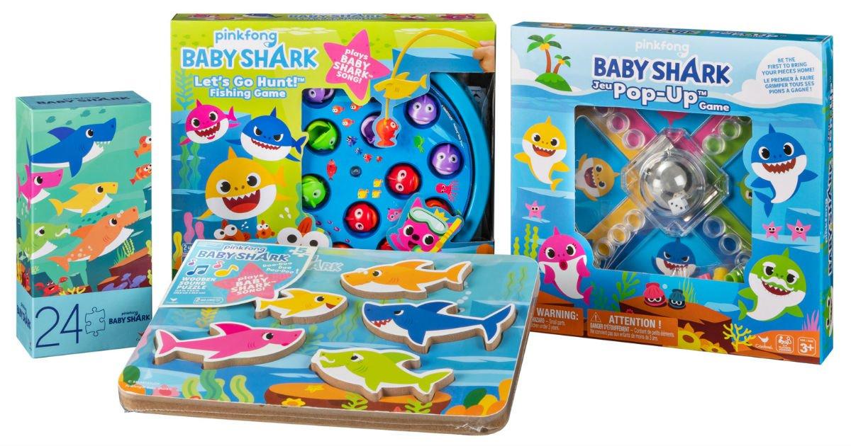 4 Juegos Pinkfong Baby Shark a solo $15 en Walmart (Reg. $50)