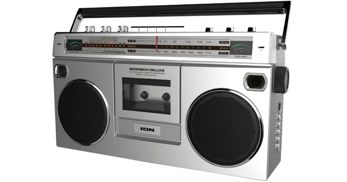 Radio Cassette Boombox con AM/FM