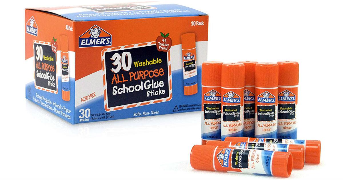 Elmer's All Purpose School Glue Sticks 30-Pack SOLO $5.82 (Reg $15)