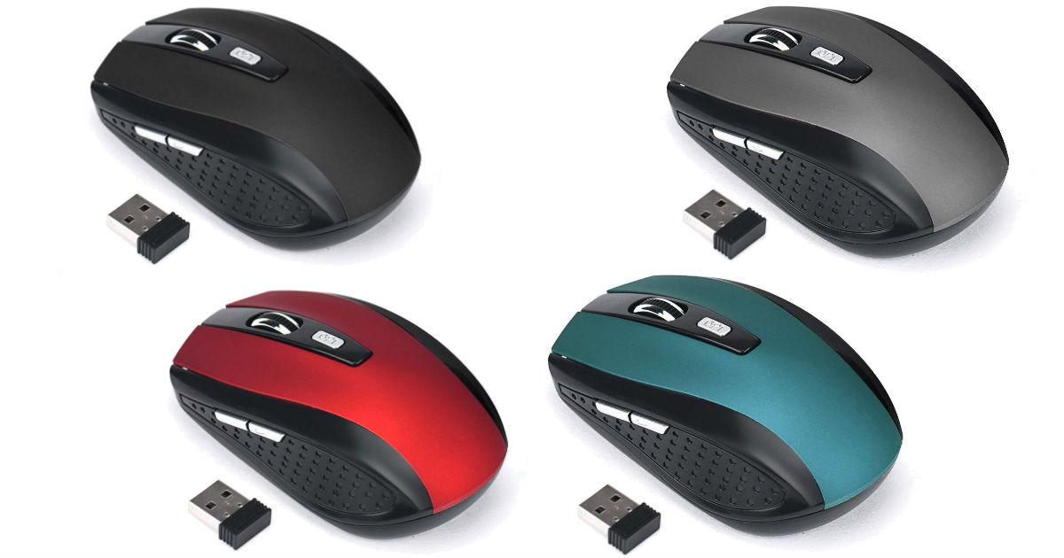 Mouse Óptico Inalámbrico Portátil